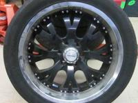 VERDE BLACK AND CHROME RIMS & TIRES 22 INCH - 6 LUGS 6
