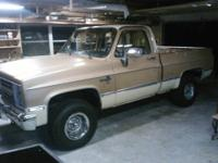 87 chevy silverado 4x4, all original, seat and carpet