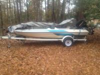 The boat has a 95 mercury 60hp runs good, haven't had