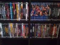 A lot of 87 DVDs. All watched one and some still in