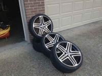 20'' rims, menzaris. set of four black and crome with