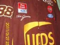 HELLO I HAVE A BROWN NASCAR JACKET 65.00 #88 DALE