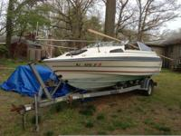 89 bayliner full 18.5 ft . No title, no trailer for
