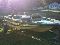 1989 jason bass boat 70 hp outboard mercury just had