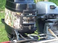 89 Mercury 45 Classic 50 HP outboard motor. Has power
