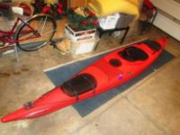 German made speciality plastic molded kayak with two