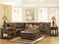 Set comes with two piece sectional. Ottoman is