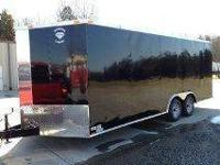 2012 Black 24' + 2' v nose trailer -5200lb axles with