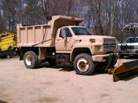 1991 ford F800 Dump with plow and sander 26,000