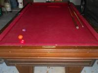 Good used pool table 8' Heritage Brunswick Pool Table
