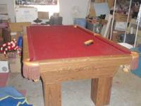 8' Olhausen pool table $1,200.00 CASH 3- piece slate