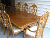 This is a beautiful dining set and china hutch. It