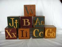 Rare collection of hand painted blocks. $150 cash &