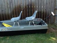 8ft Bass Buster w 2 movable stadium type seats. Has