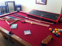 Like new pool table 4 x 8 foot, 1 inch slate. Reduced
