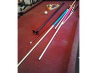We have a great pool table for sale. It has 3 slate