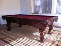 8' remy pool table brand new, life time warranty