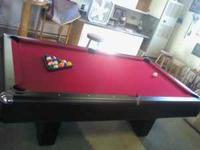 I am selling my 8ft 3 piece slate pool table and all
