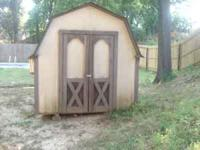 This 8ft x 10ft barn style shed features 6ft side walls