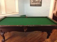 For sale is an 8 foot all wood pool table. The pool