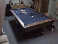 8ft Slate Pool Table in good condition. Comes with