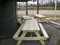 8 ft Picnic Tables!! EVERY PIECE OF WOOD IS PRESSURE