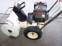 nice shape roper snowblower starts,runs and blows great