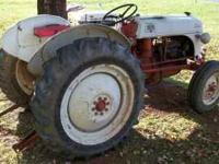 1952 tractor with good tires, good sheet metal, good