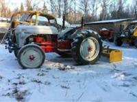 1952 Ford 8n tractor with scraper box, posthole auger,
