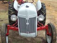 Good 8N tractor for sale. Looks and runs good, straight