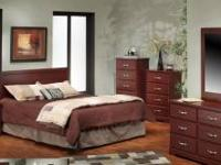 This is a brand new Cherry bedroom set. Never used