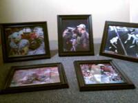 Framed photos, Johnny Rodgers, Scott Frost, Mike