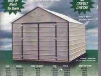 8x12 Metal Storage Shed $1195.00 or $55.32 per month