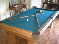 Beautiful 8x4 foot pool table. Comes with everything