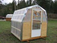 8x8 greenhouse with vented storm door, can be