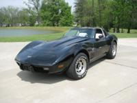 For sale is a Black 1979 Corvette w/ Oyster interior.