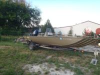 2005 Lowe Roughneck Boat. 18.6 ft holds 6 ppl. 60 HP