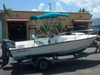 2007 KEY LARGO MIDDLE CONSOLE W/ A 115 EVINRUDE OUTOARD