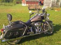 This classy one owner Harley Davidson motorcycle is a