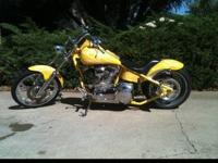 THIS IS A 2002 BIG DOG PIT-BULL CHOPPER 107 CUBIC