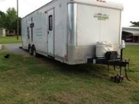 12' living quarters-w/shower,microwave, stove, ice box,