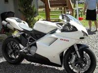 Selling my 2009 white ducati 848 with low milage! I am