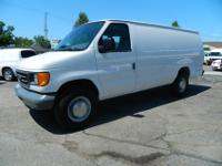 2005 FORD ECONOLINE E350 ONE TON EXTENDED CARGO VAN.