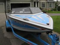 1989 Ski Centurion Falcon Competition Ski Boat. Blue,