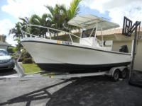 Dusky 20 with a 2008 175 Suzuki 4 stroke engine. This