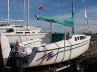 This 2nd owner (since 1996), lightly sailed Hunter 23.5
