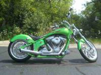 2004 AMERICAN IRONHORSE OUTLAW, Green Tribal,