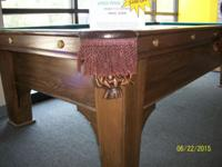 I have a beautiful 9' A.E. Schmidt pool table for sale.
