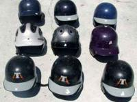I have Nine assorted youth Baseball Helmets They are