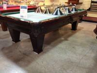 9' Brunswick Ventura pool table.   Cherry finish / NEW